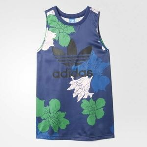 Adidas Originals Women's Floral Engraving Tank Top